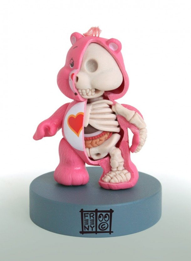 CareBear-Calinours-Bisounours-Anatomie-Jason-Freeny-Sculpture-Geekorner