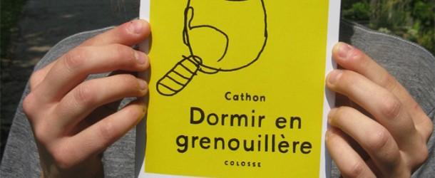 BD Québécoise : Cathon publie Dormir en Grenouillère