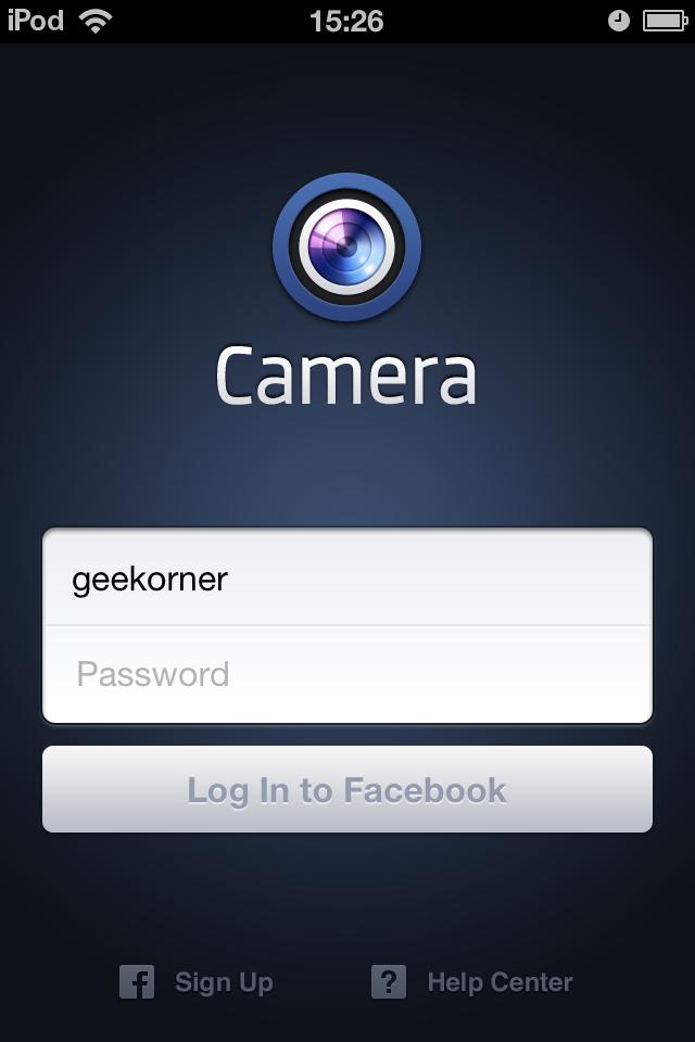 Facebook lance camera son application photo iphone for Facebook camera