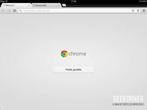 Google Chrome iPad11