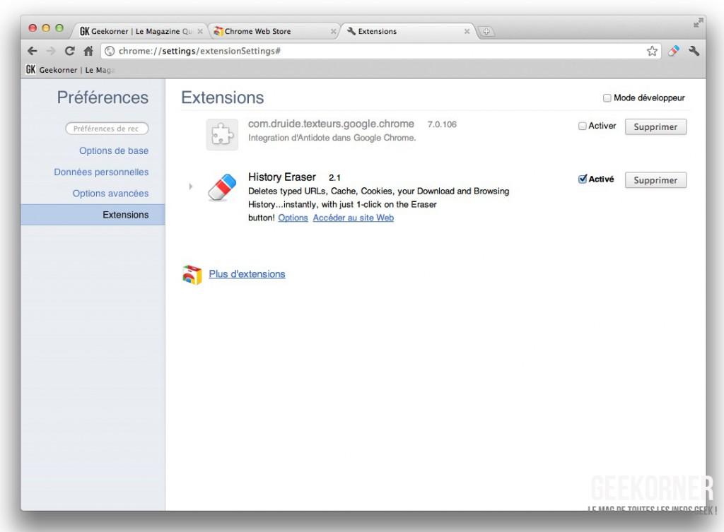 Google chrome effacer ses traces de navigation - Comment ne laisser aucune trace de ma navigation ...