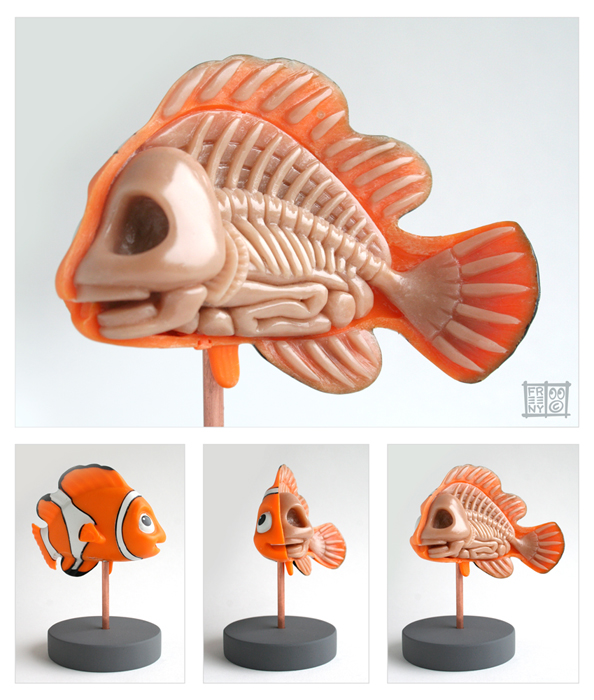Nemo-Anatomie-Jason-Freeny-Sculpture-Geekorner