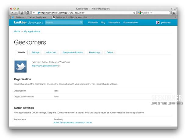 Twitter-API-Parametres-Geekorner