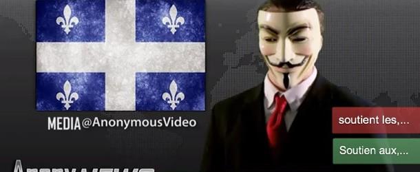 Opération Québec : Anonymous s'oppose à la loi 78