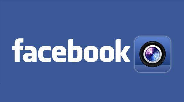 ... Facebook Camera, elle permet de retoucher ses photos et d'en publier