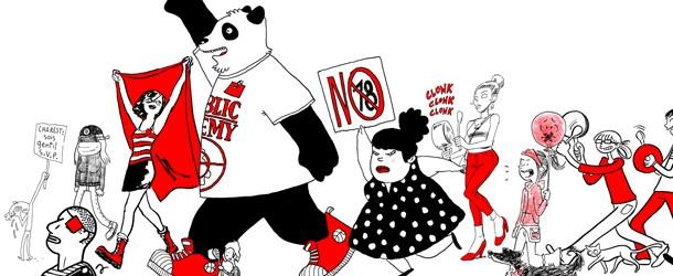 La BD Québécoise Manifeste en Carré Rouge sur Internet