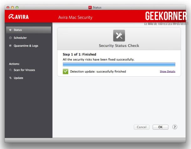 Avira Antivirus Mac Gratuit - Geekorner - 04