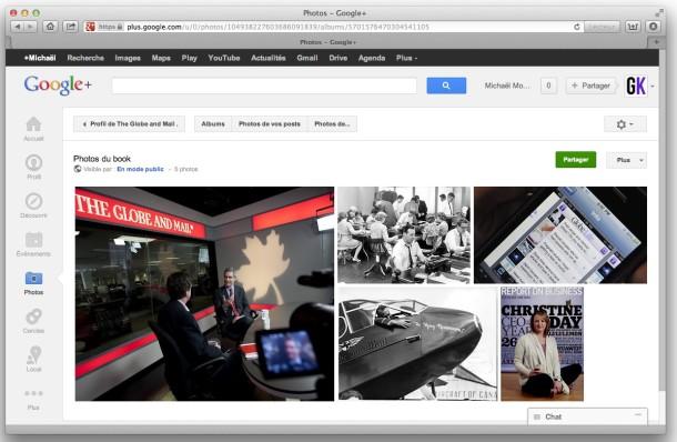 Google Plus Mosaique