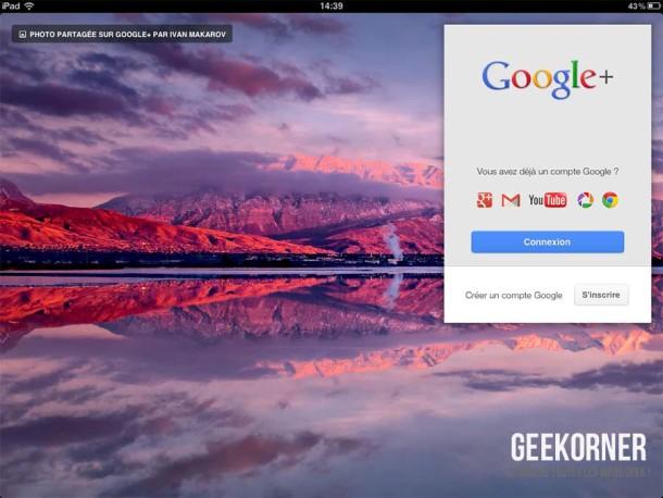 Google Plus iPad - Geekorner - 02