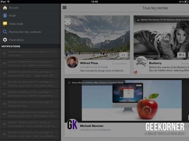 Google Plus iPad - Geekorner - 03