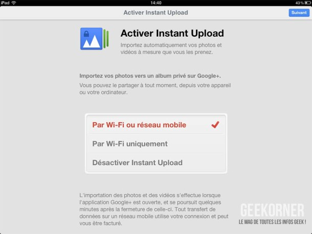 Google Plus iPad - Geekorner - 08