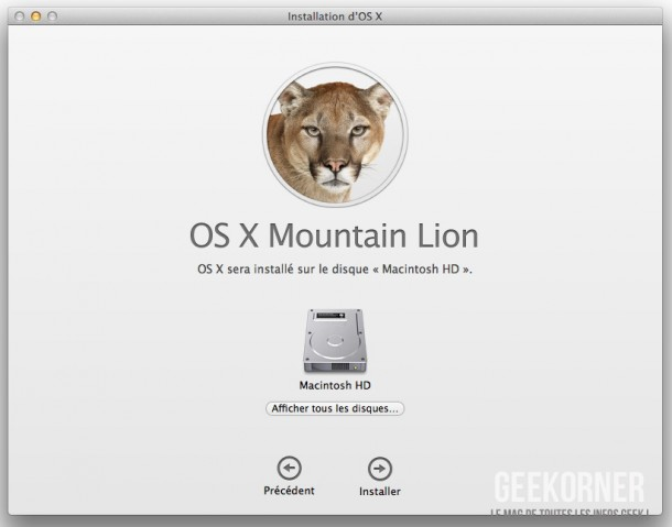 Installer Mountain Lion - Geekorner  - 04