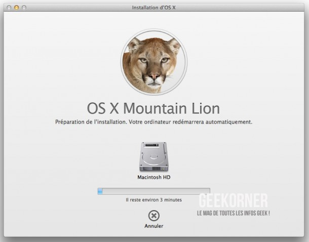 Installer Mountain Lion - Geekorner  - 06