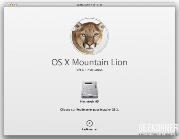 Installer Mountain Lion - Geekorner  - 08