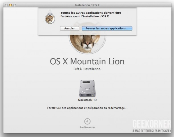 Installer Mountain Lion - Geekorner  - 09