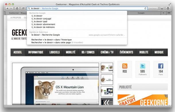 Nouveautés Mountain Lion - Geekorner - 33
