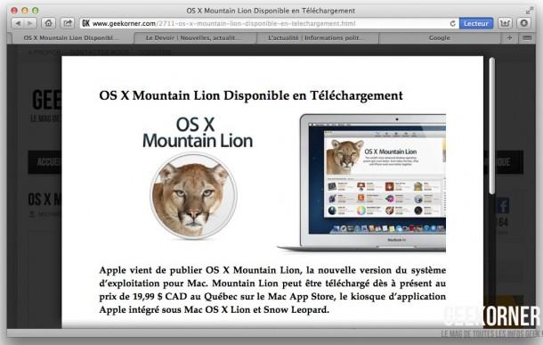 Nouveautés Mountain Lion - Geekorner - 34