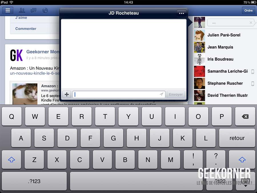 facebook une vraie application pour iphone et ipad. Black Bedroom Furniture Sets. Home Design Ideas