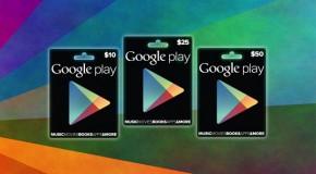 Google Play : Cartes Cadeaux disponibles aux USA