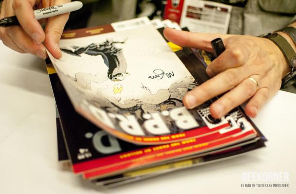 Mike Mignola - Hellboy - Comiccon Montréal 2012 - Geekorner - 002