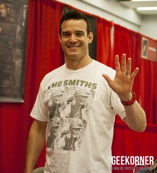 Warehouse 13 - Eddie McClintock - Comiccon Montréal 2012 - Geekorner - 003