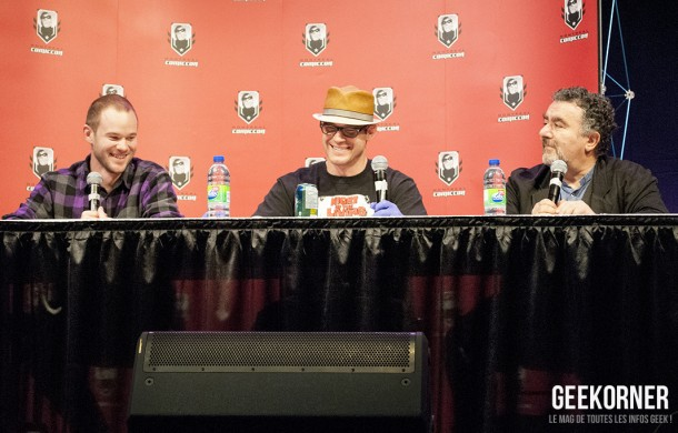 Warehouse 13 - Eddie McClintock - Saul Rubinek - Aaron Ashmore - Comiccon Montréal 2012 - Geekorner - 017