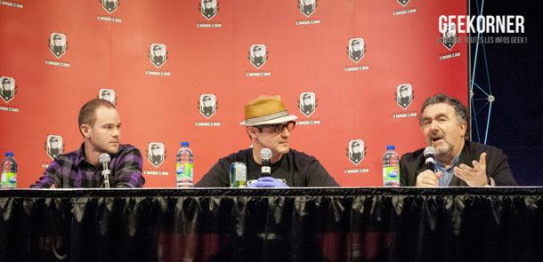 Warehouse 13 - Eddie McClintock - Saul Rubinek - Aaron Ashmore - Comiccon Montréal 2012 - Geekorner - 021