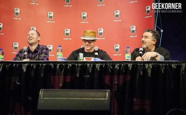 Warehouse 13 - Eddie McClintock - Saul Rubinek - Aaron Ashmore - Comiccon Montréal 2012 - Geekorner - 022
