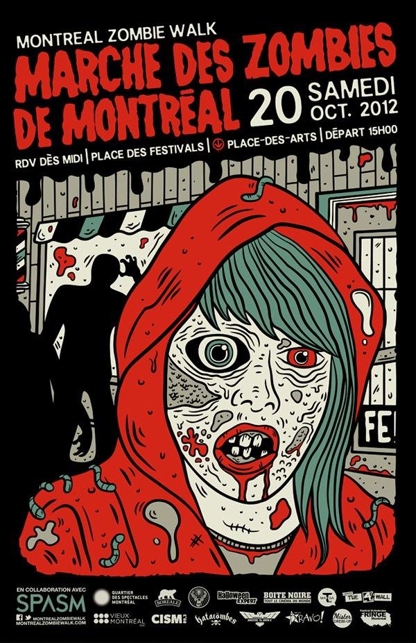 Marche des Zombies de Montréal 2012 Affiche - Geekorner