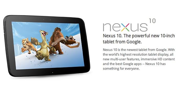 nexus 10 vs ipad 4   google frappe fort