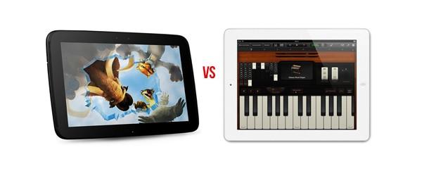 Nexus 10 vs iPad 4 : Google frappe Fort