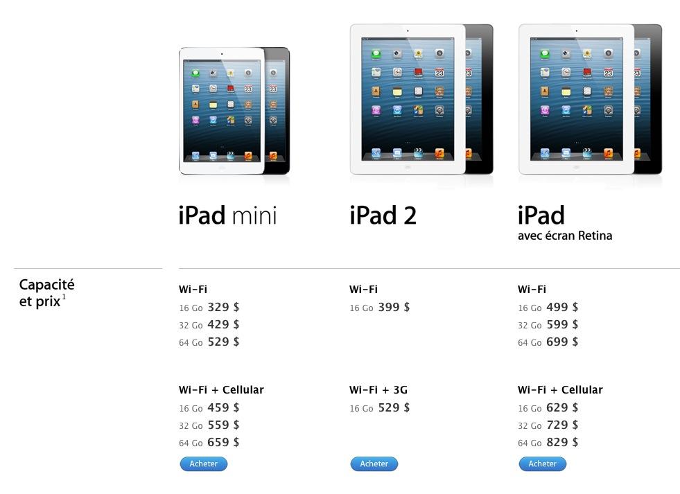 ipad mini ou ipad 4   lequel choisir