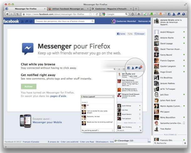 Facebook Messenger pour Firefox - 3 - Geekorner