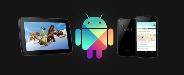 Nexus 4 et Nexus 10 en vente sur Google Play