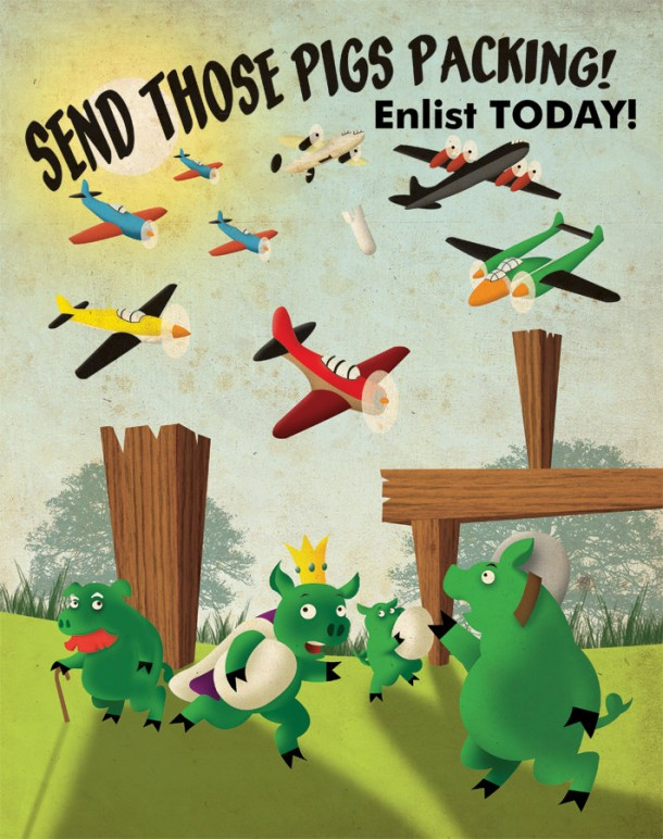 Angry-Birds-propaganda-victory-poster-aaron-wood-geekorner