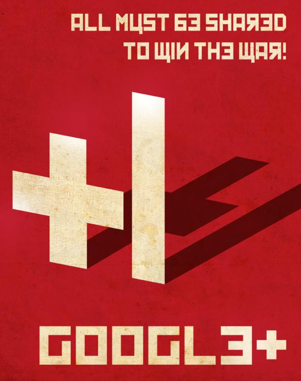 Google+-propaganda-poster-Aaron-Wood-geekorner