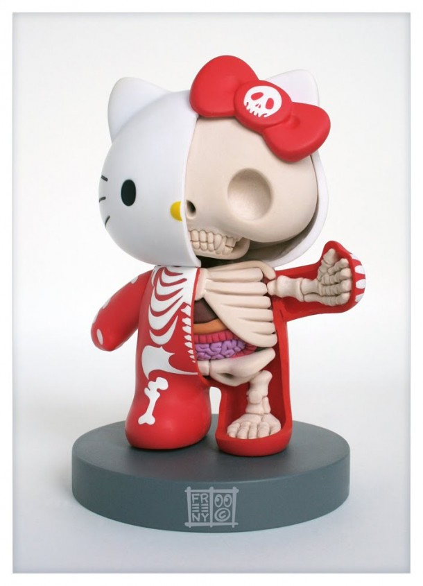 Hello-Kitty-Anatomie-Jason-Freeny-Sculpture-Geekorner