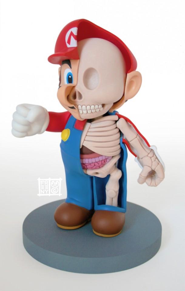 Mario-Anatomie-Jason-Freeny-Sculpture-Geekorner