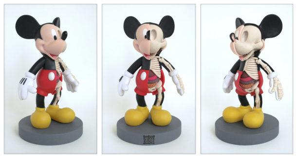Mickey-Mouse-Anatomie-Jason-Freeny-Sculpture-Geekorner