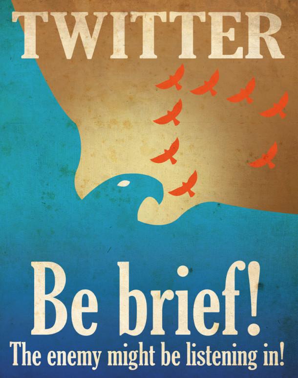 Twitter-propaganda-poster-be-brief-aaron-wood-geekorner