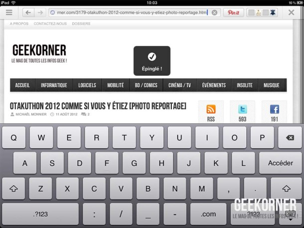 Pinterest iPad - Geekorner - 12